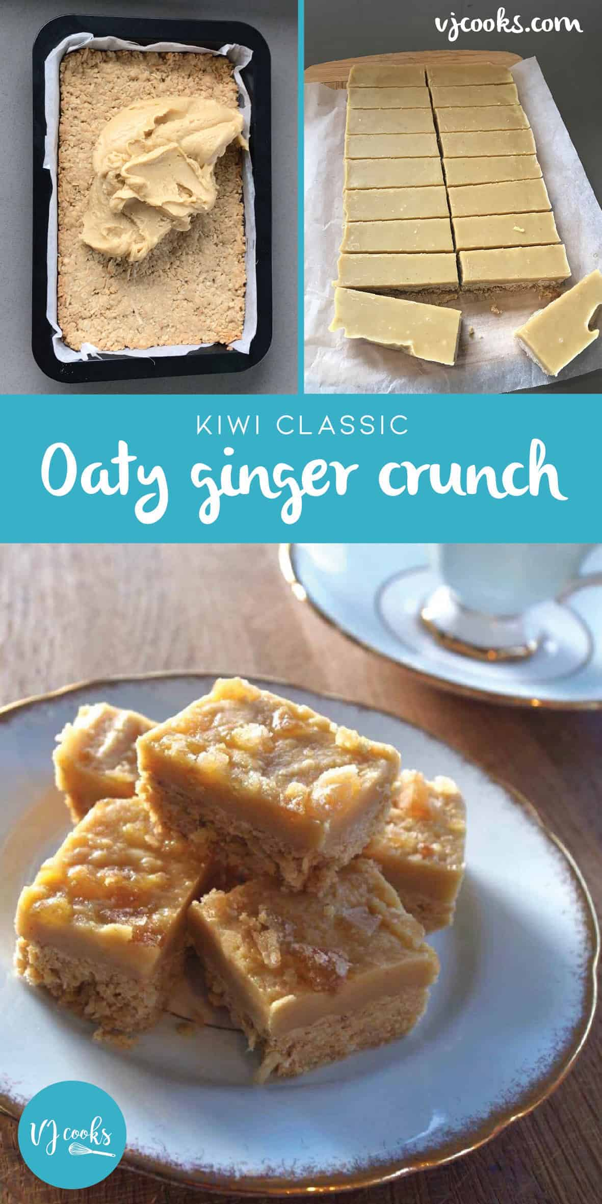 Oats ginger crunch by VJ cooks