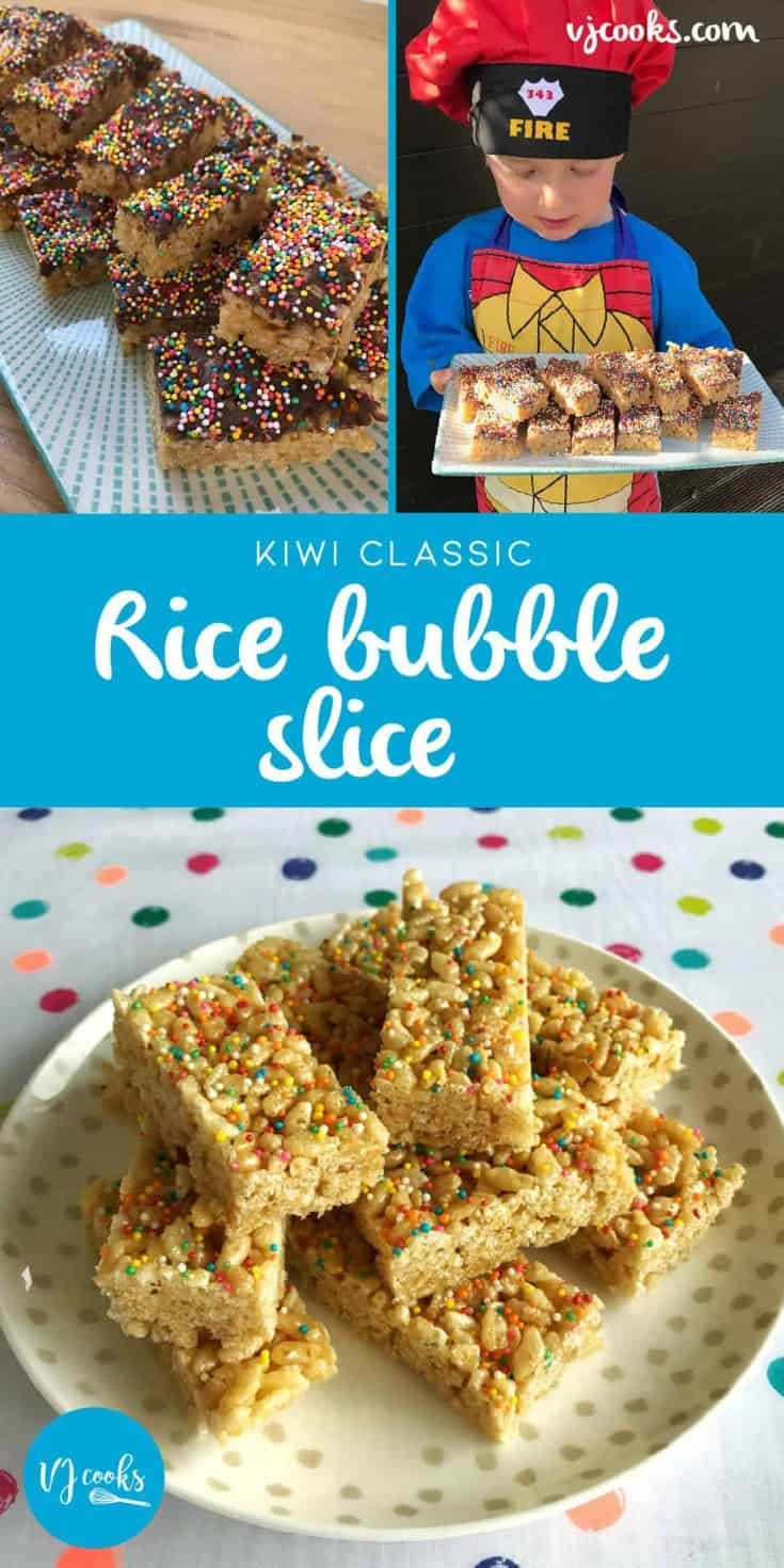Recipe for rice bubble slice