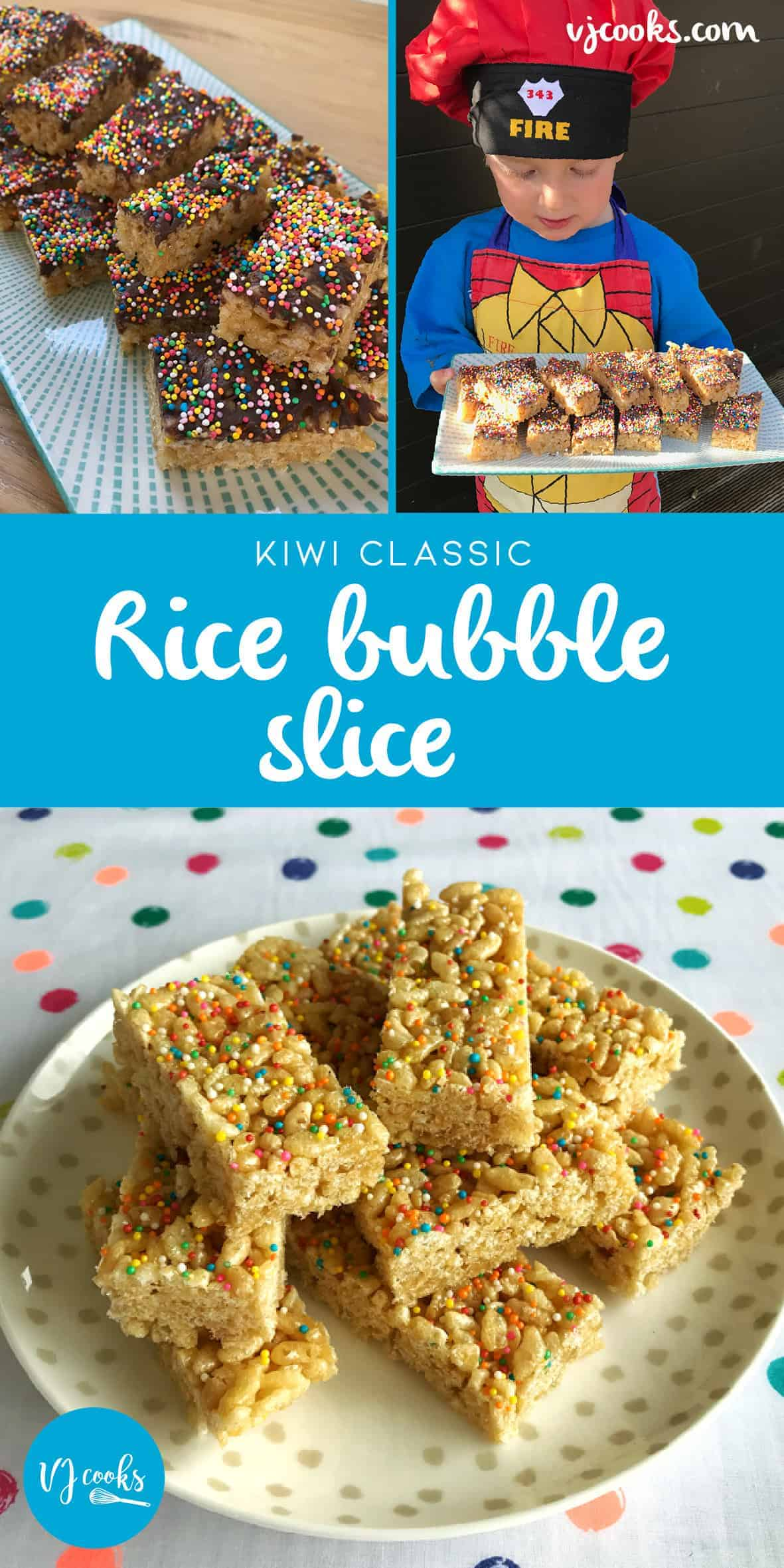 Kiwi classic rice bubble slice by vj cooks