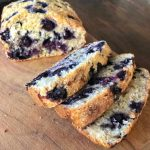 blueberry and coconut loaf