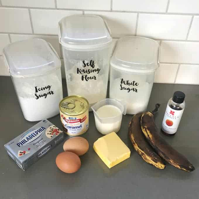 VJ COOKS banana caramel cake