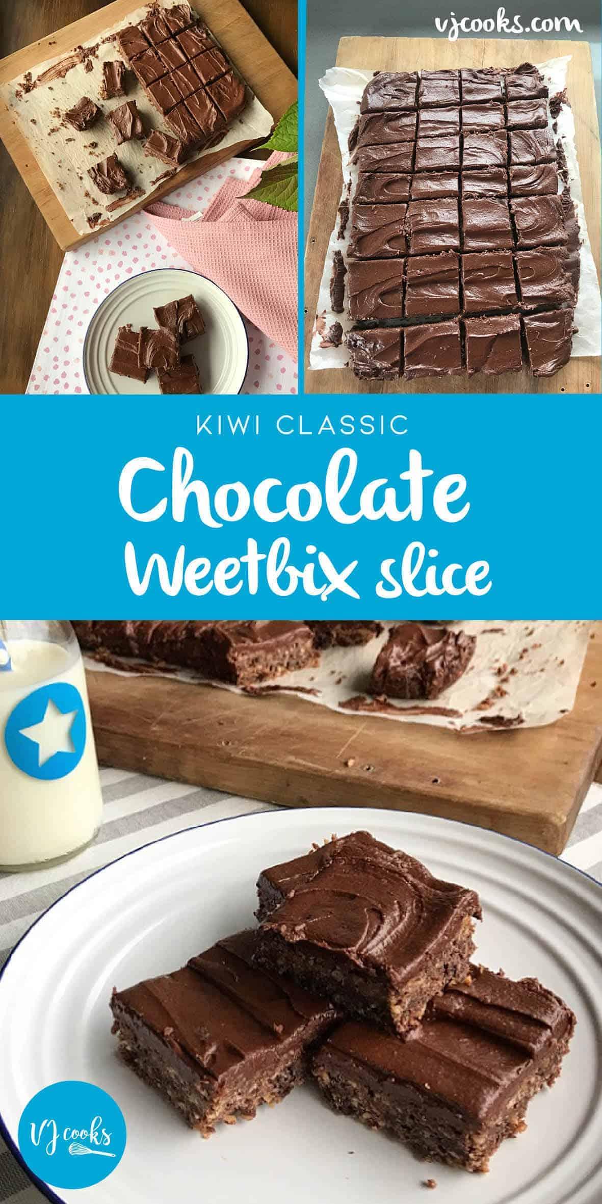 Classic chocolate Weetbix slice a kiwi classic from VJ Cooks.