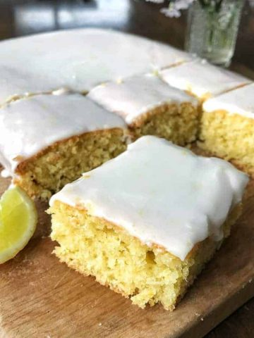Lime and coconut sheet cake by VJ cooks. This easy recipe is dairy free and is made with limes, coconut and coconut cream.