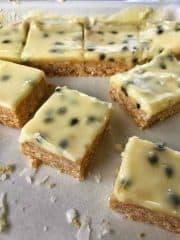 VJ cooks simple no-bake passionfruit slice