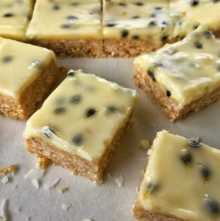 VJ cooks simple no-bake passionfruit slice