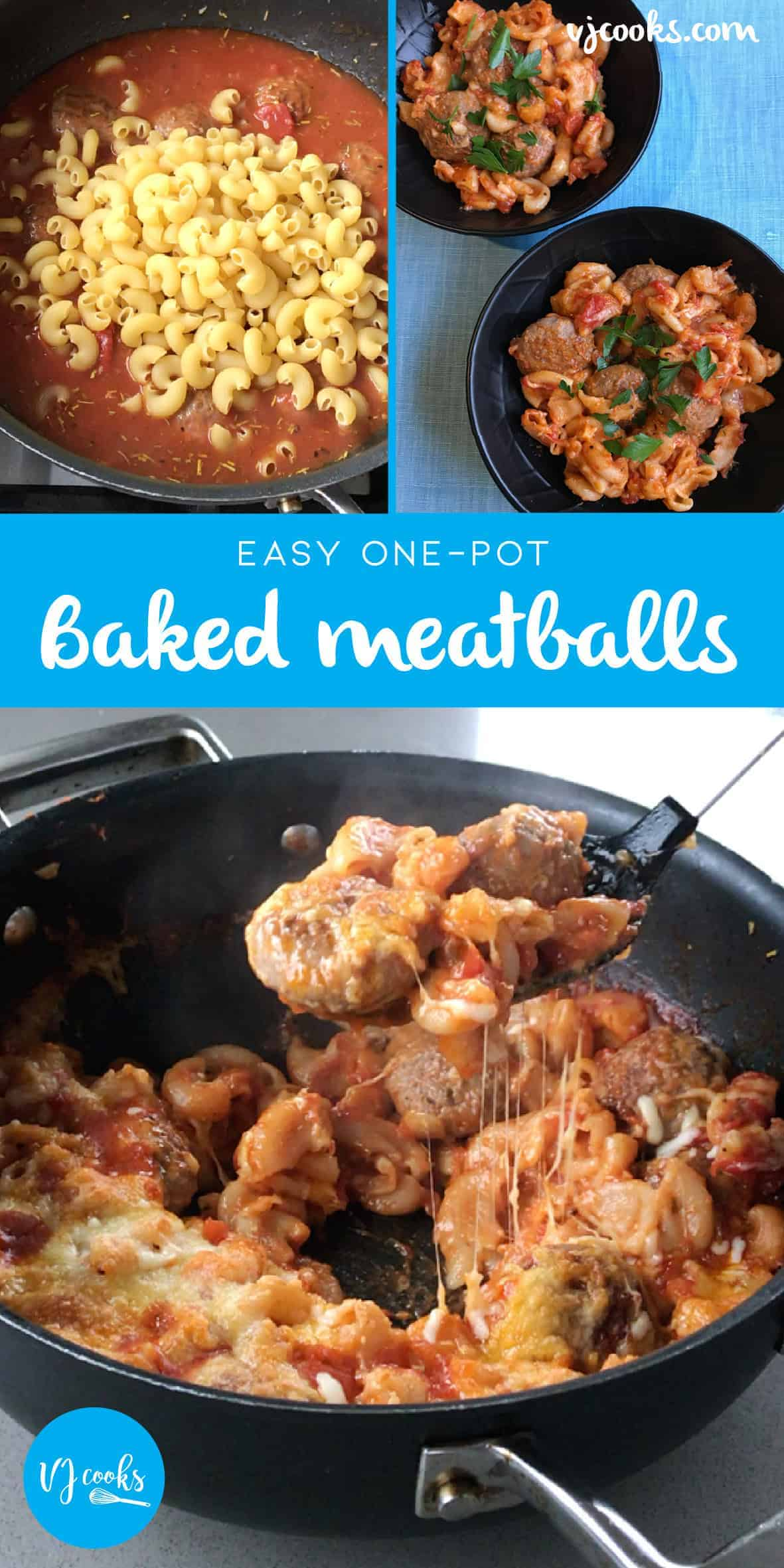 Baked Meatballs easy one-pot recipe by VJ cooks