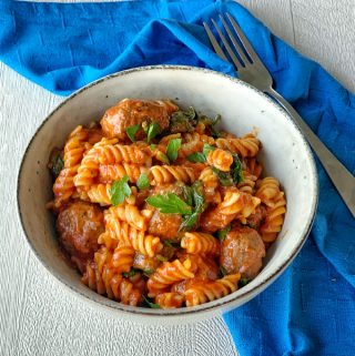multi cooker - instant pot - baked meatballs and pasta