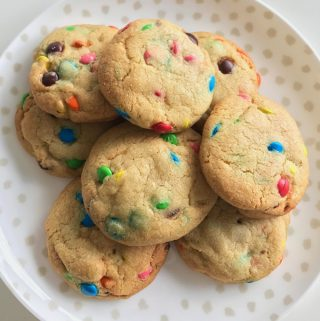 M&M cookies by VJ cooks