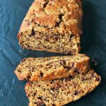 banana chocolate chip loaf, easy recipe by VJ cooks