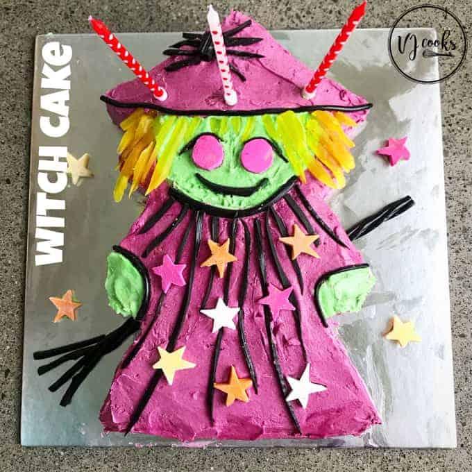 VJ cooks witch cake easy DIY kids birthday cake