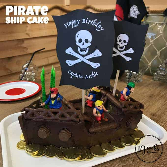 VJ cooks pirate ship cake easy DIY kids birthday cake