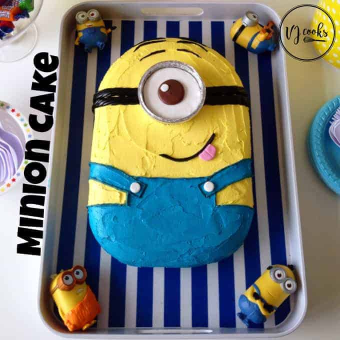 VJ cooks minion cake easy DIY kids birthday cake