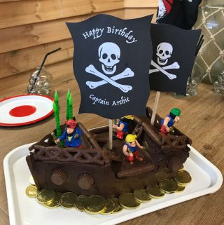 VJ COOKS pirate cake for kids Birthdays