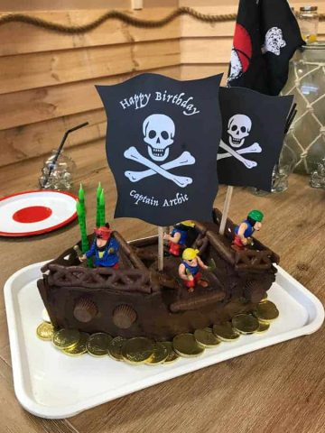 VJ COOKS pirate cake for kids Birthdays