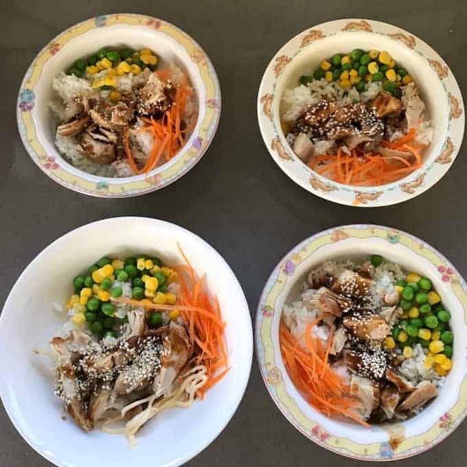VJ cooks teriyaki chicken bowls