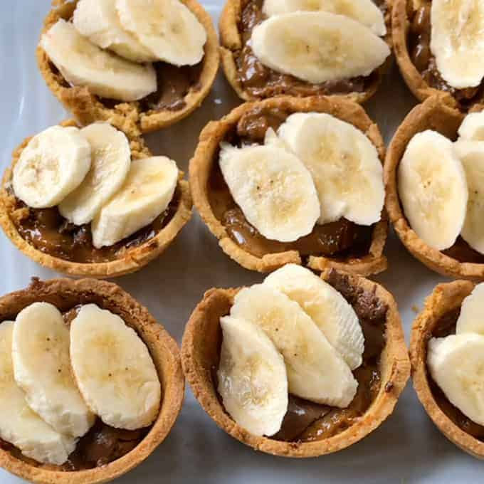 Cheats mini banoffee tarts - easy recipe by VJ cooks
