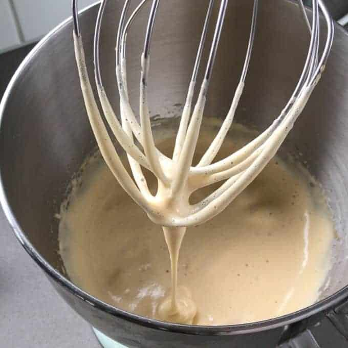 eggs and brown sugar whisked together