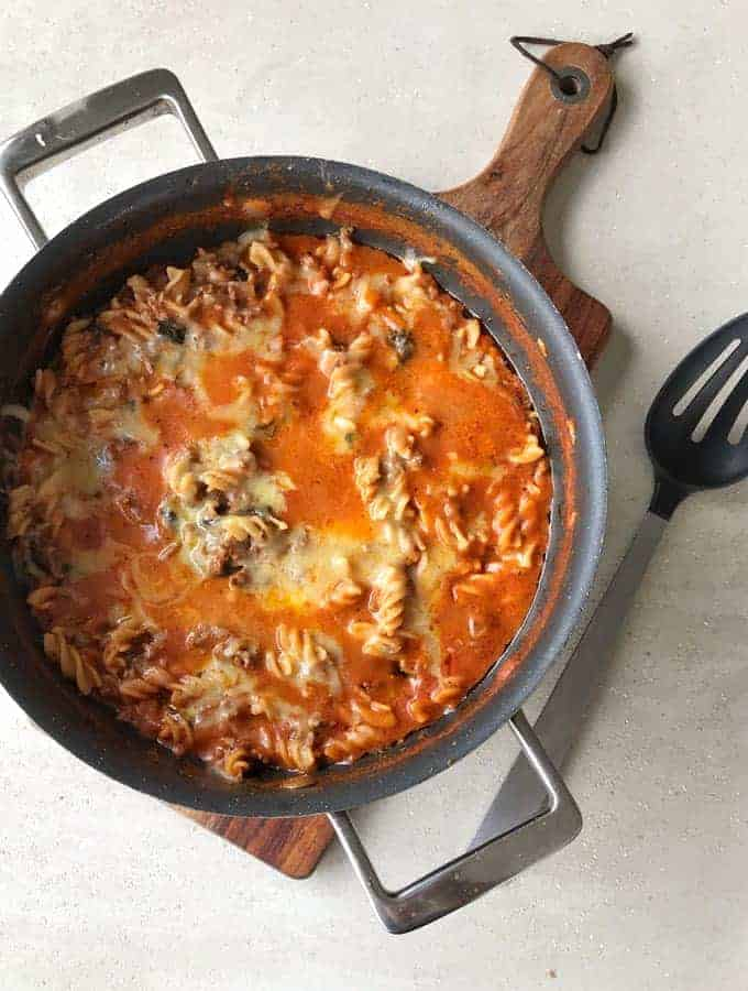 One pot mince with pasta a recipe from VJ cooks