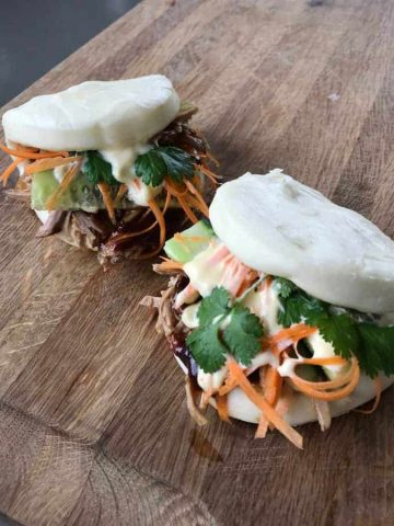 VJ cooks pulled pork bao buns