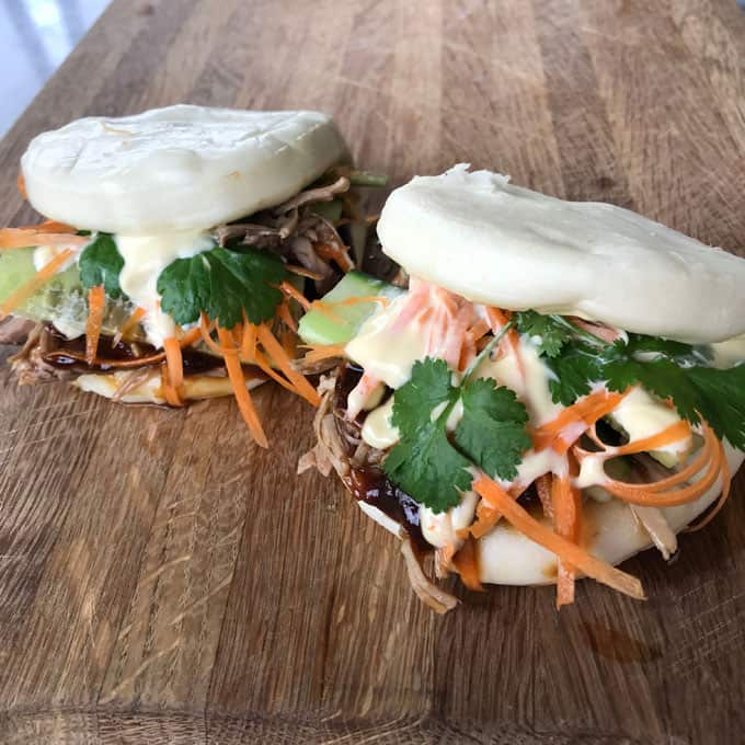 Pulled pork bao buns by VJ cooks