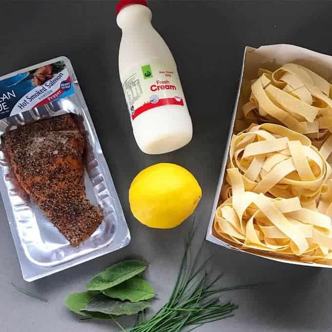 VJ cooks smoked salmon pasta