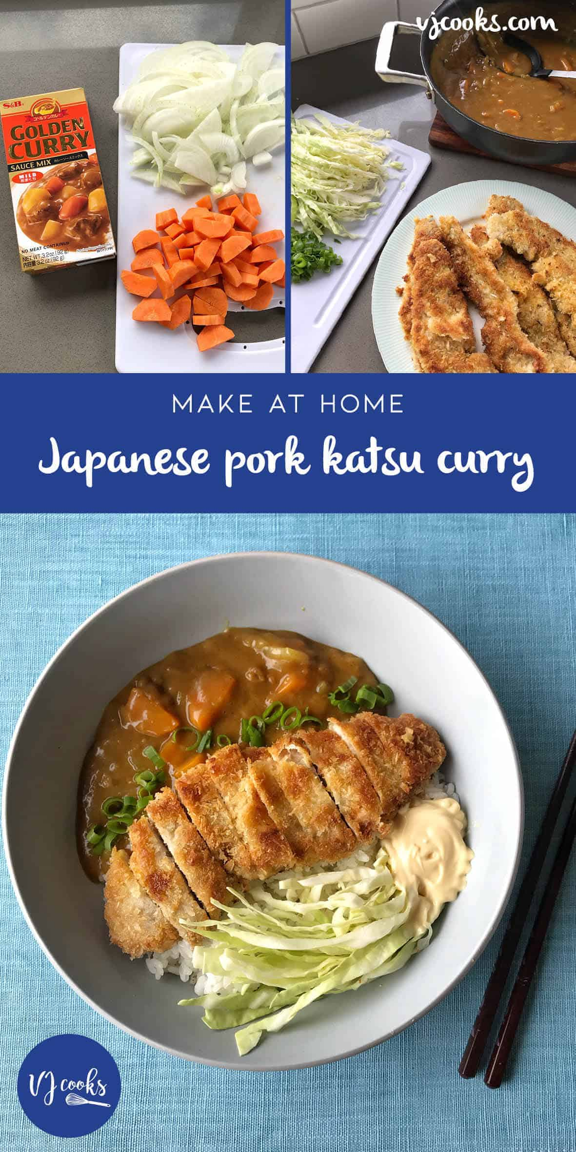 VJ cooks Japanese pork katsu curry
