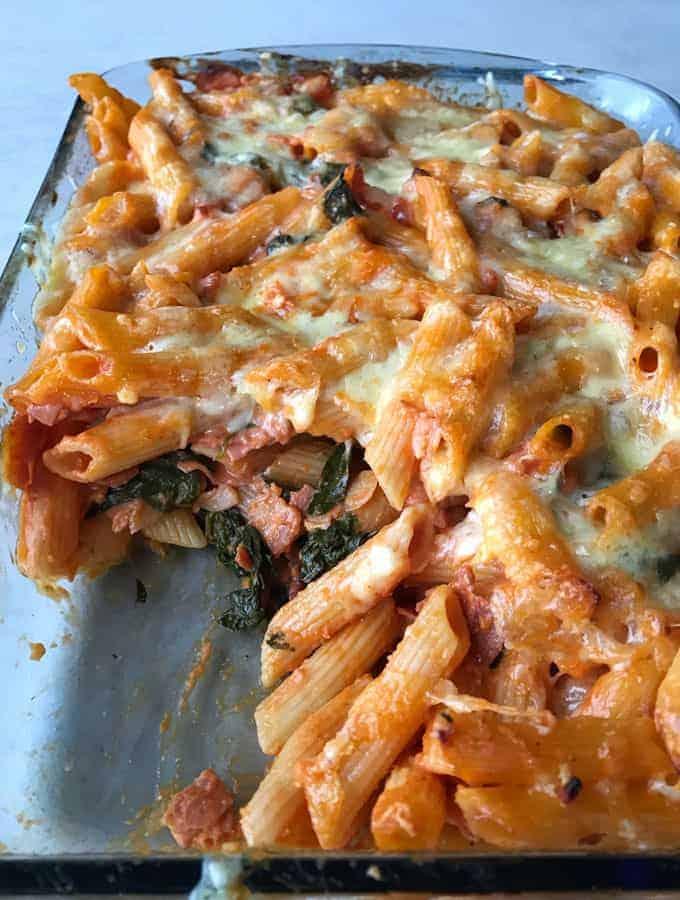 VJs quick bacon pasta bake