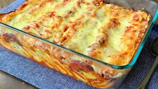 Courgette and ricotta cannelloni