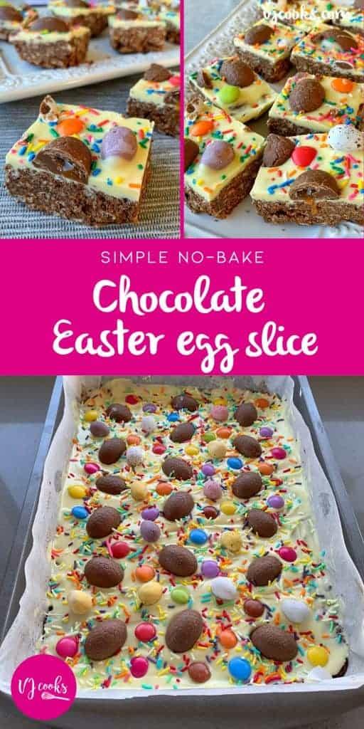 vj cooks no-bake easter egg slice