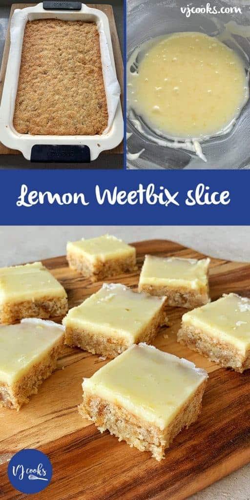 VJ COOKS lemon weetbix slice