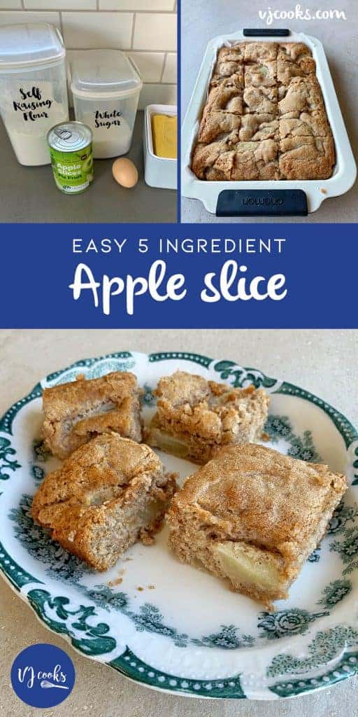 5 ingredient apple slice by VJ cooks