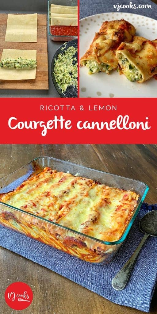 courgette and ricotta cannelloni recipe by vj cooks