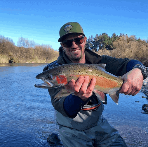 fly fishing in the Taupo rivers