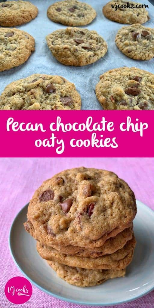 vj cooks pecan and choc chip cookies