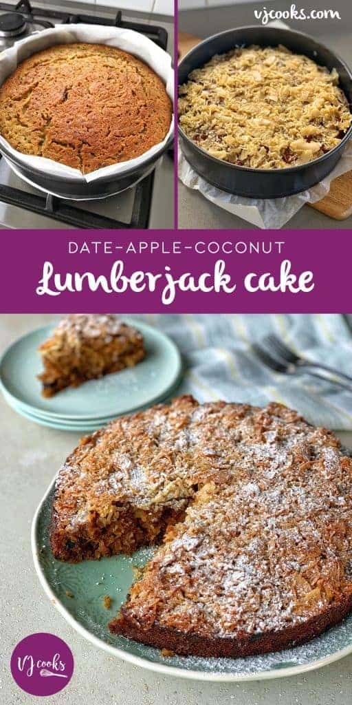 vj cooks date apple and coconut - lumberjack cake