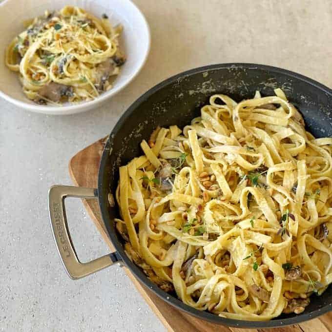 vj cooks creamy mushroom pasta