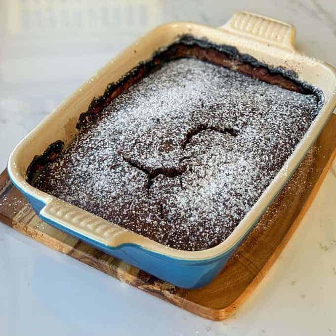vj cooks chocolate and banana self saucing pudding