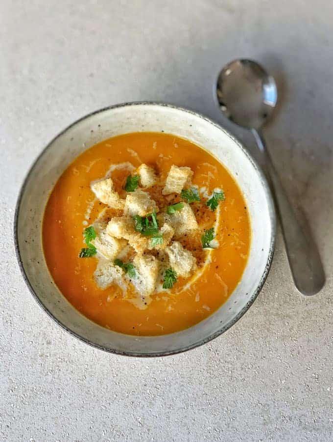 Whole Roasted Pumpkin Soup