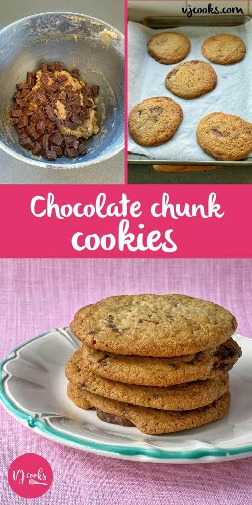 Vj cooks chocolate chunk cookies Pin image