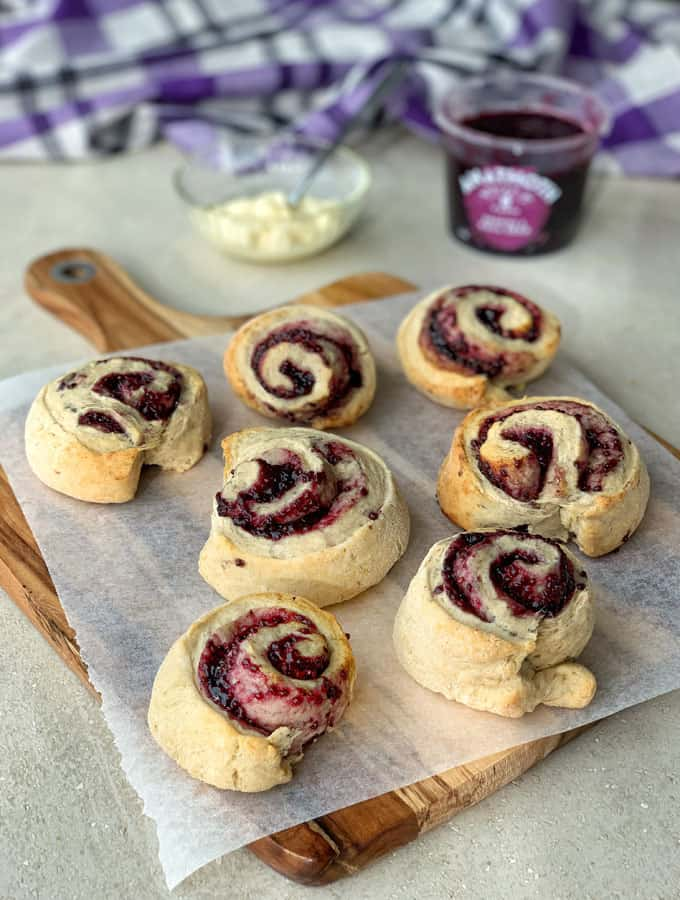 jam pinwheel scones recipe by VJ cooks