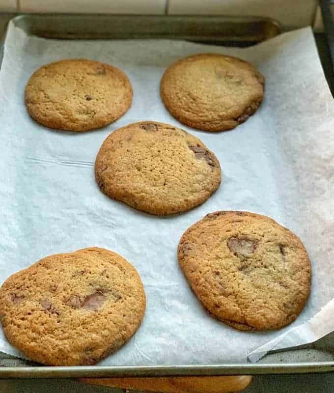 Chocolate chunk cookies a tray recipe from VJ cooks