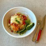 VJ cooks baked chicken parmigiana