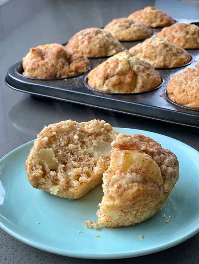 vj cooks easy oat and apple muffins