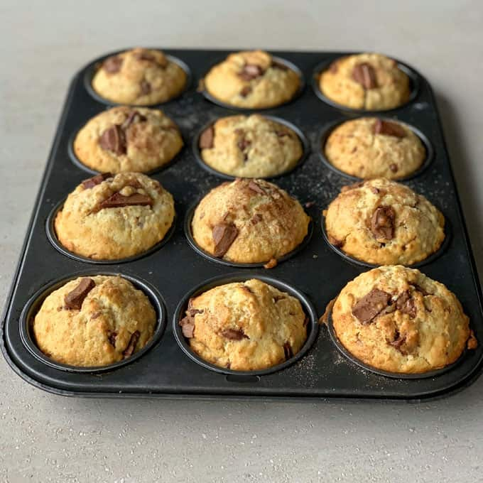 vj cooks easy oat and chocolate muffins