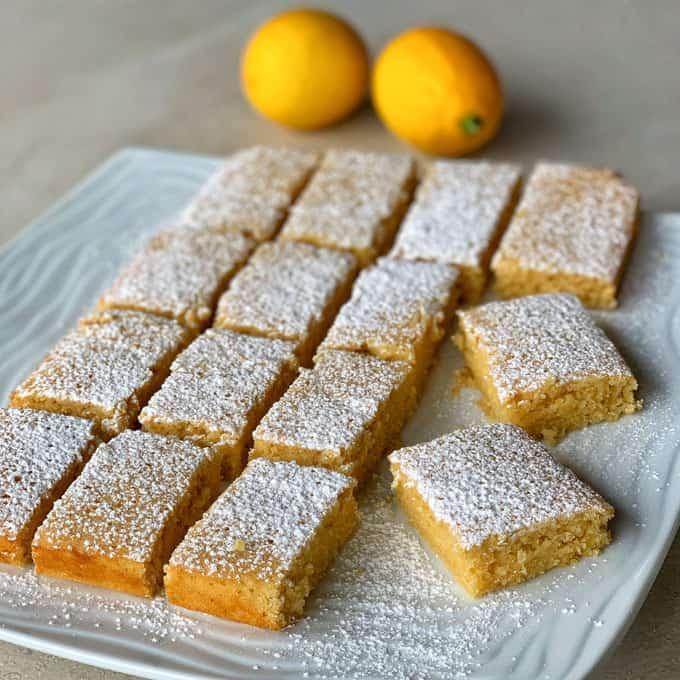 vj cooks lemon and white chocolate blondie