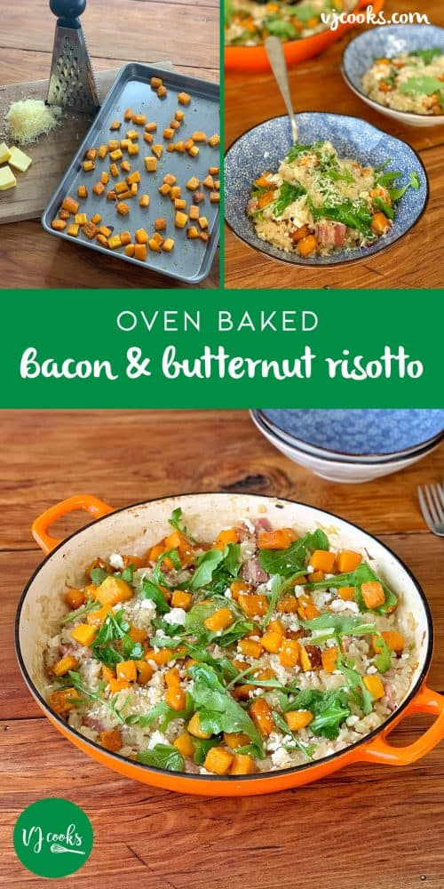 vj cooks - bacon and butternut risotto