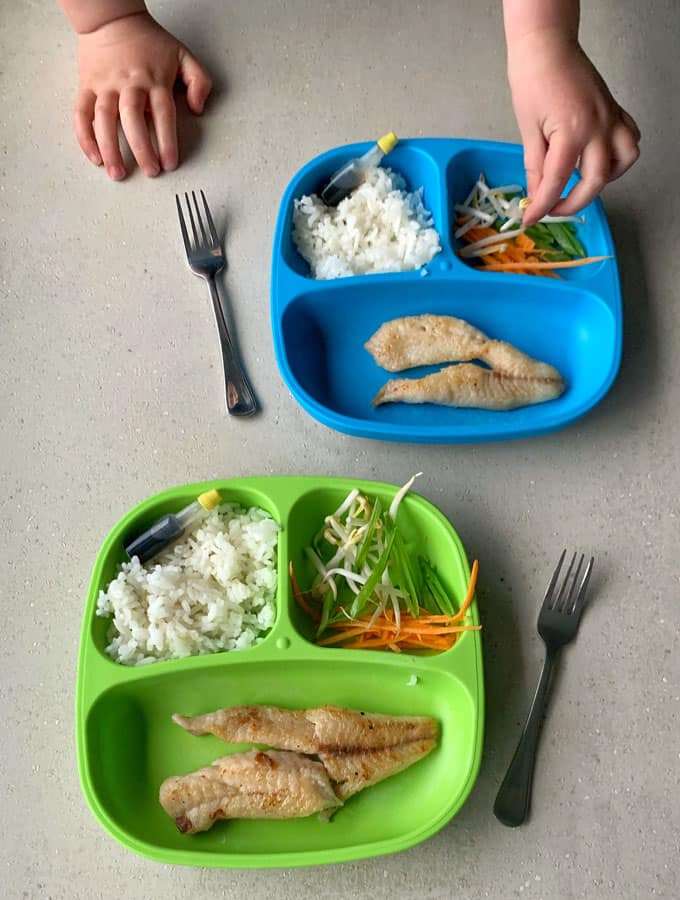 VJ cooks - Pan fried fish with for kids