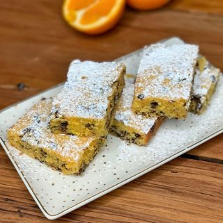 orange choc chip blondie