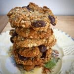 ANZAC biscuits with chocolate buttons