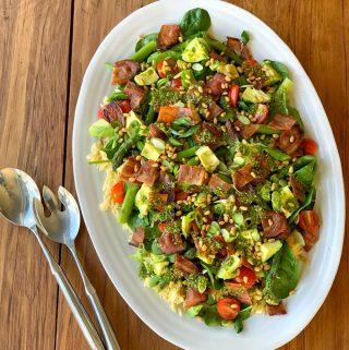 vj cooks asparagus salad